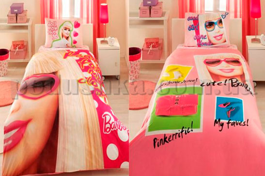 Постельное белье TAC Barbie close up с простыней на резинке