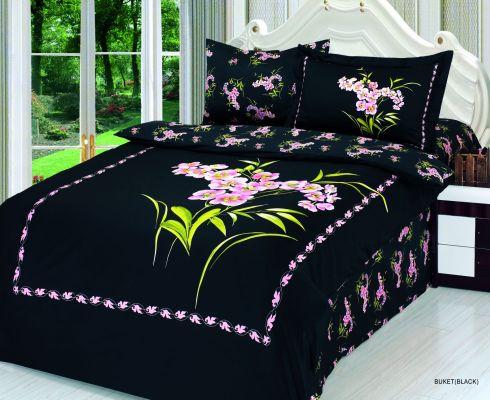 Комплект постели Buket Black, Le Vele Полуторный комплект  Le Vele