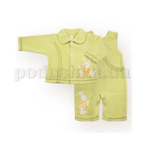 Костюмчик детский с зайчонком Бемби КС213 шардон-меланж