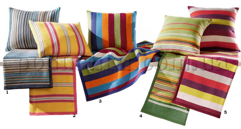 Плед с подушкой Sunrise зеленый 586186 Bocasa подушка 50х50 см  Biederlack Borbo-Bocasa