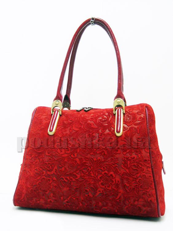 Сумка из натуральной кожи Artis Bags 731 красная