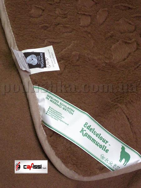 Одеяло шерстяное Cafissi Camel Garzato