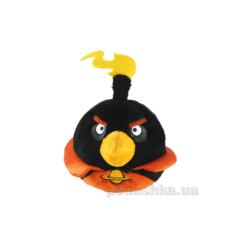 Мягкая игрушка Angry Birds space птичка-черная 92672