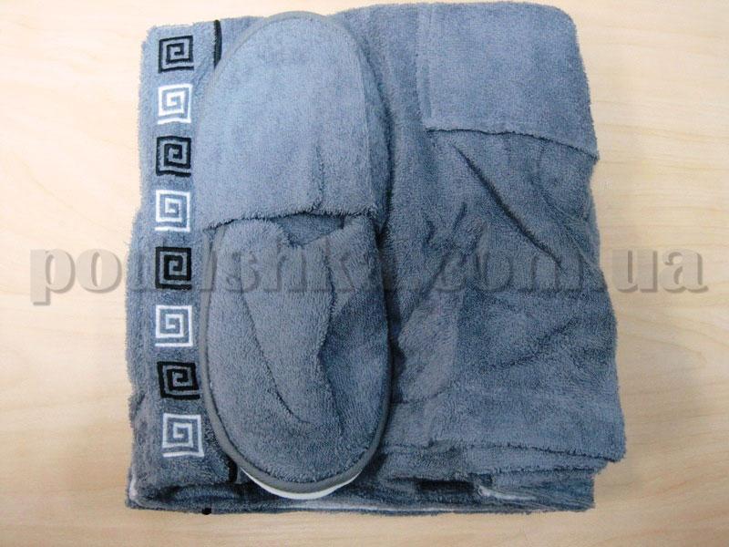 Набор для сауны мужской Nusa NS-250 серый