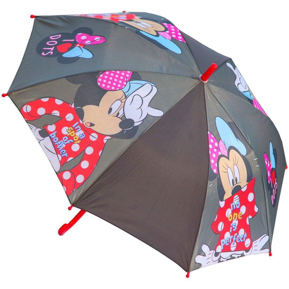 Зонт полуавтомат Минни Маус Disney (Arditex) серый WD11626 gray