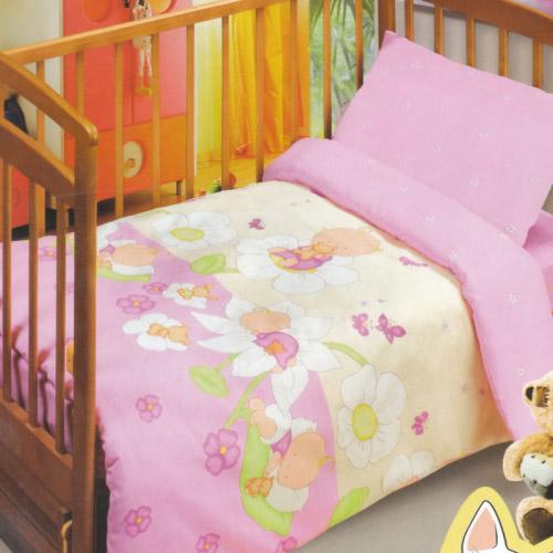 Постельное белье в кроватку Сладкие сны (розовый)