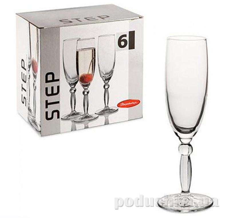 Бокал для шампанского Pasabahce Step 44634 6шт 175мл   Pasabahce
