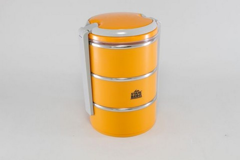 Набор из 3-х контейнеров для завтрака Layer 1,5л  (нерж. сталь) 5783-S