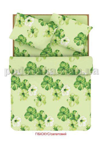 Постельное белье Home line Гибискус салатовый