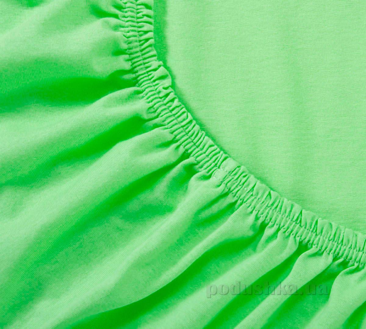 Простынь трикотажная на резинке Arya TR1002126 зеленая 200х220 см  ARYA