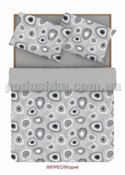 Постельное белье Home line Импрессия серый