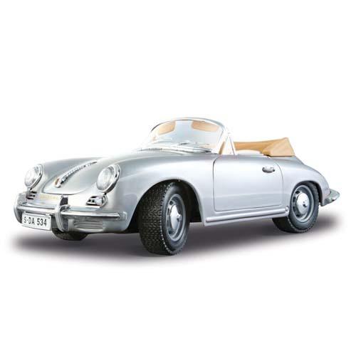 Авто-конструктор - Porsche 356B Cabriolet (1961) (серебристый, 1:18)