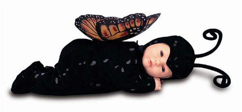 Кукла-бабочка  с открытыми глазками