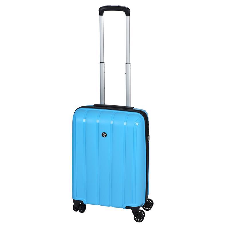 Чемодан пластиковый 2E BagsCases Youngster маленький 4 колеса 2E-SPPY-S-LB голубой