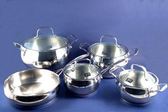 Набор посуды 9пр. Forum стекло/крышка, GIPFEL