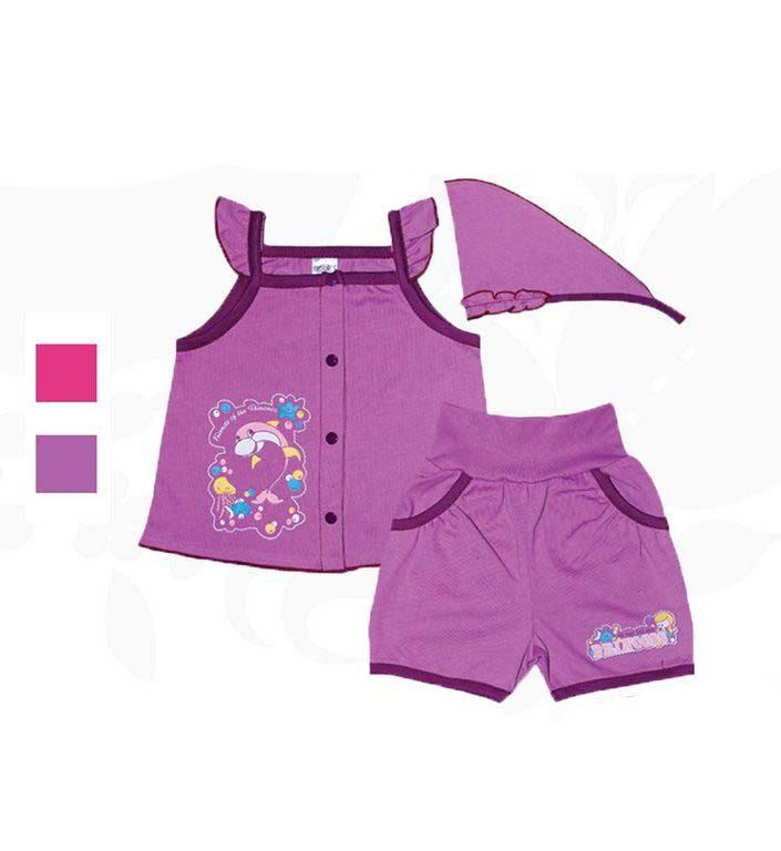 Комплект для девочек Фламинго 527