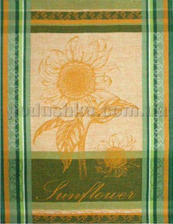 Кухонное полотенце Подсолнух зеленый