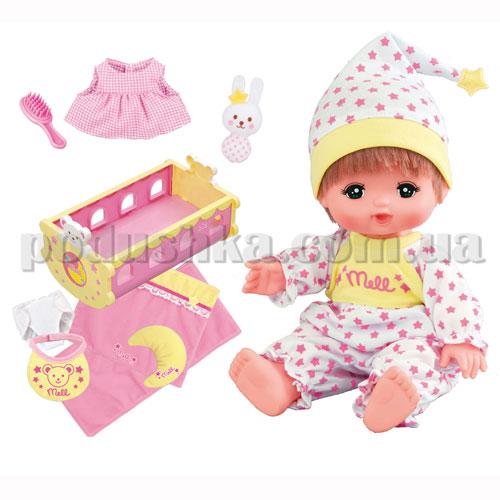 Набор - Заботливая Мама Малышки Мелл (с куклой, колыбелькой и аксессуарами)