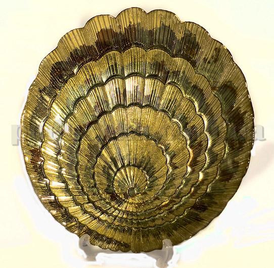Тарелка Золотая Ракушка - ручная роспись