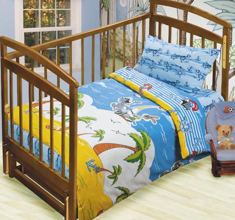 Постельное белье в кроватку На острове