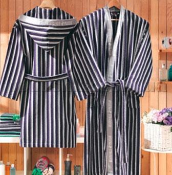 Халат махровый кимоно BHPC 502 синий