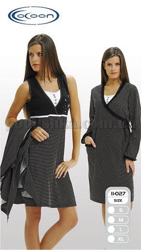 Набор женский двойка - халат и туника - Cocoon 11-027