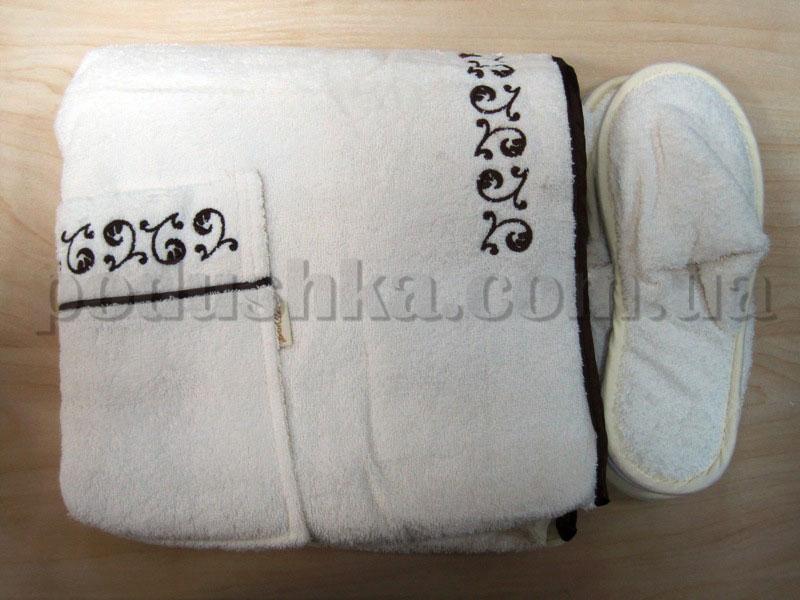 Набор для сауны женский Nusa NS-260 кремовый