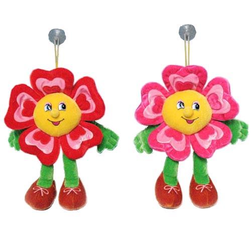 Мягкая игрушка - Цветок подвесной двухцветный музыкальный, 20см
