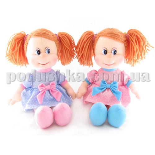 Мягкая игрушка - Кукла Ляля в платье в горошек музыкальная, 22 см