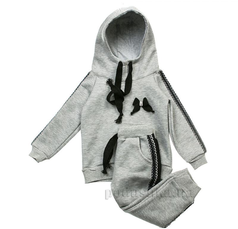 Спортивный костюм Синее кружево Kids Couture 16-18 серый
