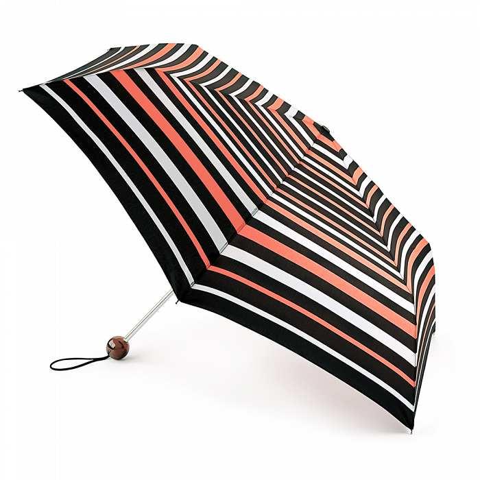Женский зонт Fulton Superslim-2 L553 Neon Stripe неоновые полосы