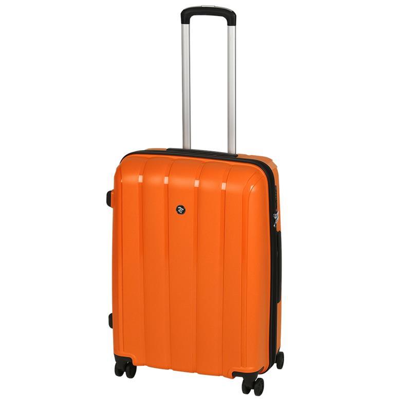 Чемодан пластиковый 2E BagsCases Youngster средний 4 колеса 2E-SPPY-M-OG оранжевый