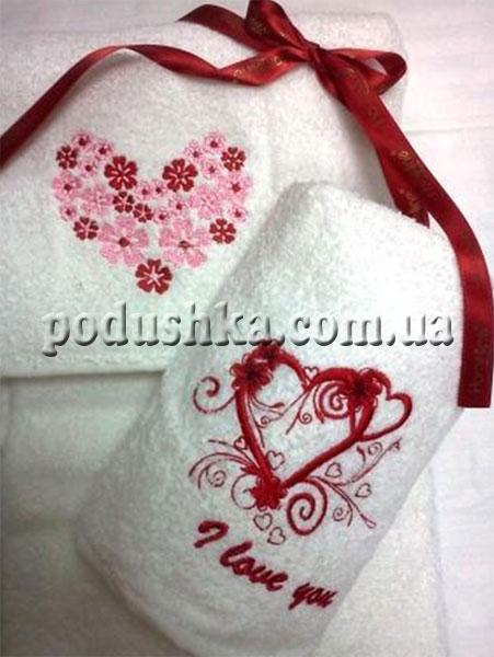 Набор махровых полотенец Валентин (2 шт)