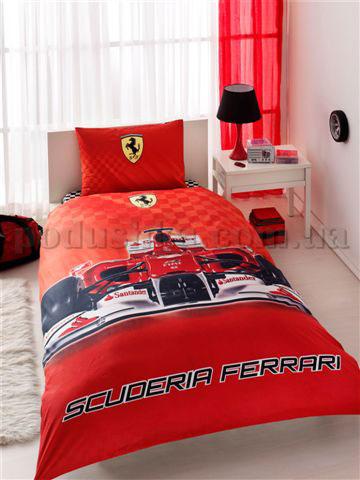 Постельное белье TAC Ferrari с простыней на резинке