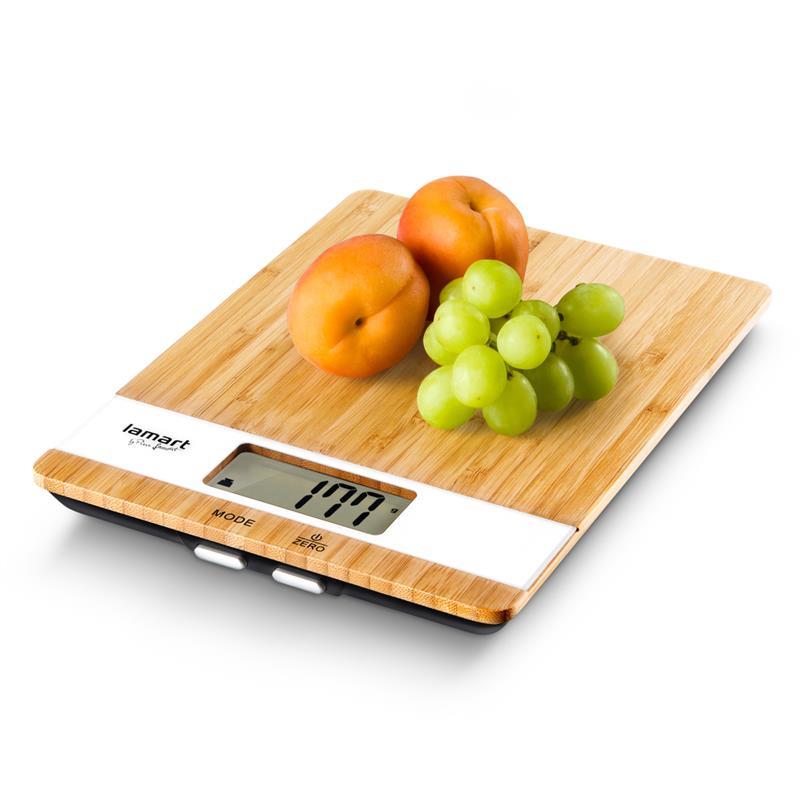 Весы кухонные Lamart Bamboo LT7024 коричневые