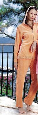Домашний костюм женский велюровый с капюшоном Nusa NS-882