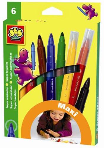 Набор цветных маркеров - Макси (6 цветов)