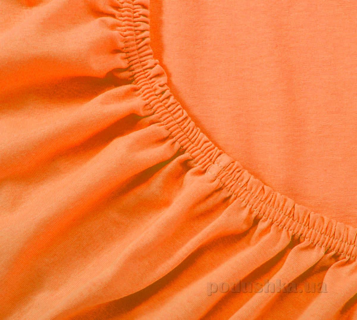 Простынь трикотажная на резинке Arya TR1002126 оранжевая 200х220 см  ARYA