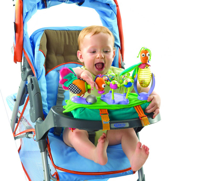 Набор игрушек для коляски с подставкой для бутылочки (Grip Graps)
