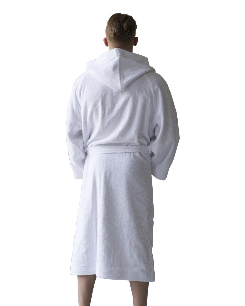 Халат махровый мужской с капюшоном Sleeper Set White Men Bath Robe S/M  Sleeper Set