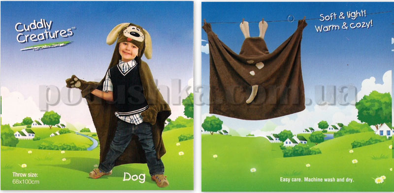 Плед-накидка детский Le Vele Dog