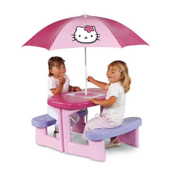 Стол для пикника с зонтиком Smoby Hello Kitty