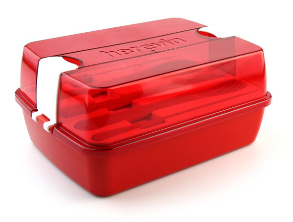 Ланчбокс со столовыми приборами Herevin Maxx red 161275-001