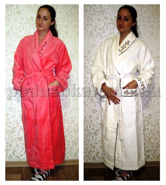 Халат женский длинный без капюшона Nusa NS-00630