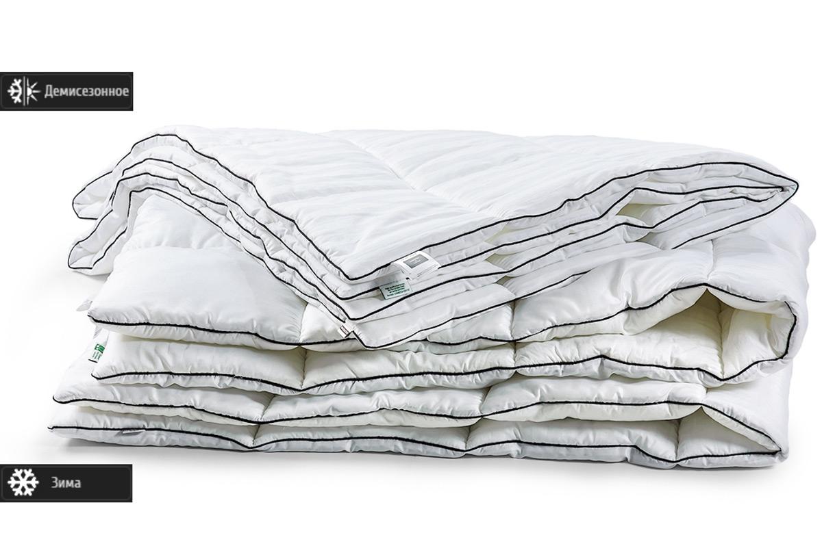 Одеяло антиаллергенное EcoSilk Royal Pearl Деми Чехол сатин+микро 006 демисезонное 140х205 см вес 700 г. MirSon