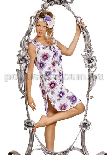 Ночная сорочка Вайде 1302А (сиреневые и фиолетовые ромашки)