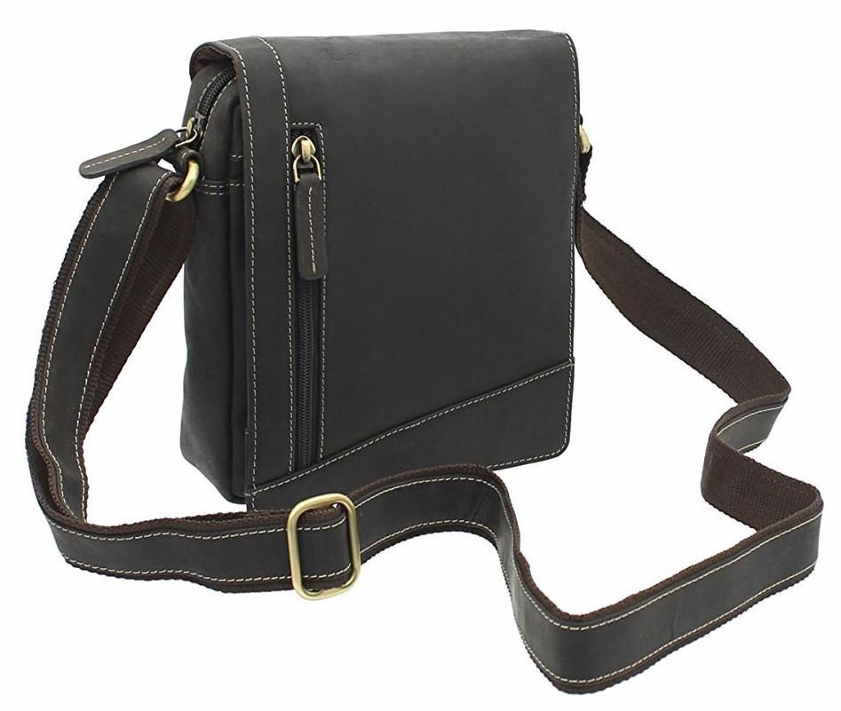 ffa9d5168323 Мужская кожаная сумка-мессенджер Visconti S-7 oil brown купить в ...