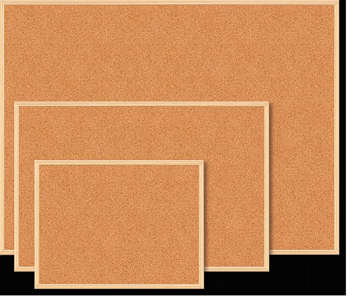 Доска пробковая JOBMAX 90х120см деревянная рамка BUROMAX BM 0015