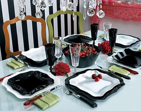 Сервиз столовый Luminarc AUTHENTIC black-white 30 предметов