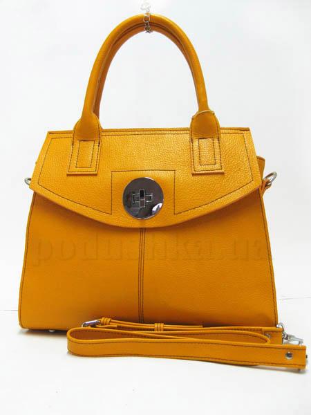 Сумка из натуральной кожи Artis Bags 751 желтая